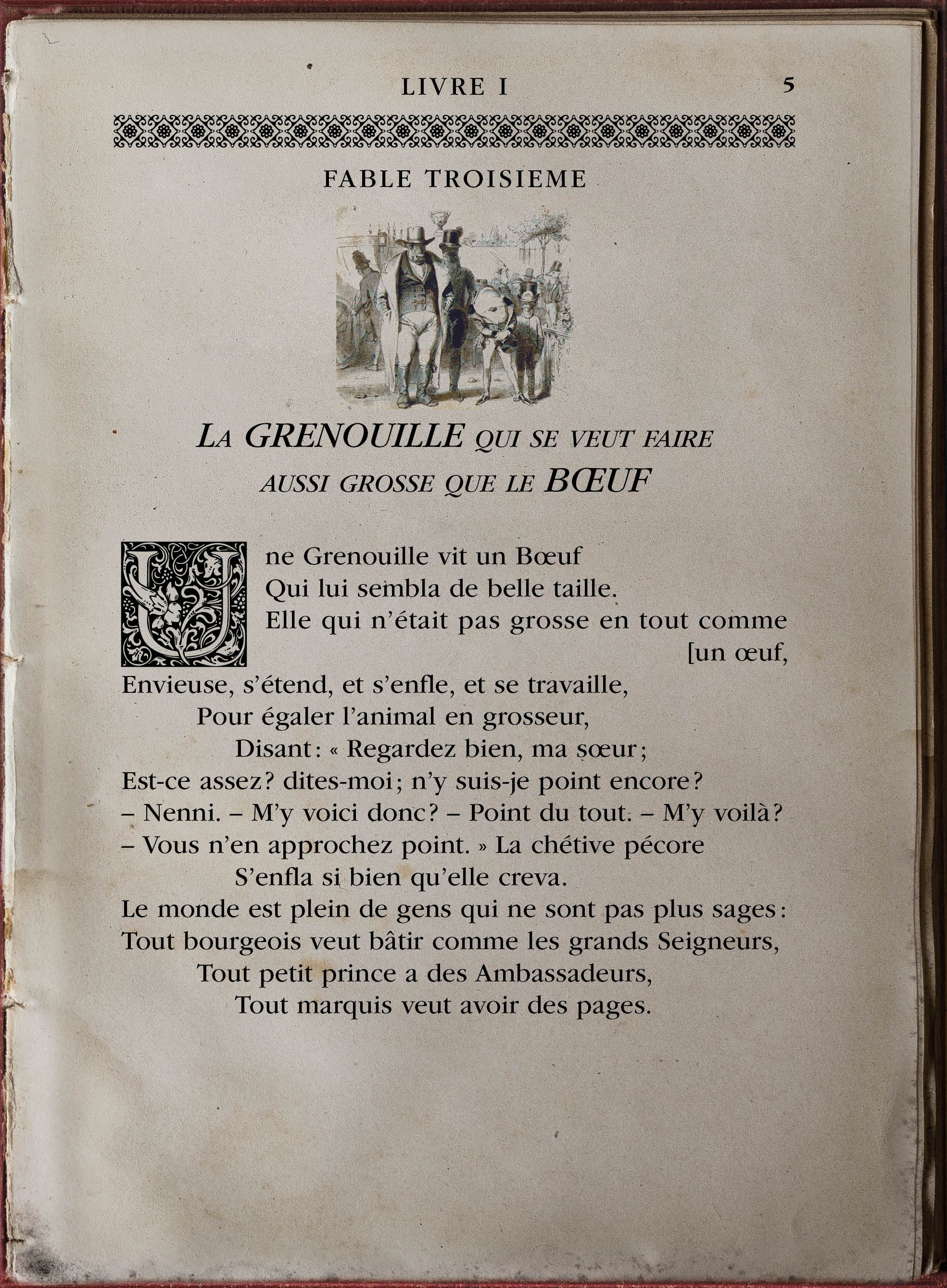 fable grenouille boeuf